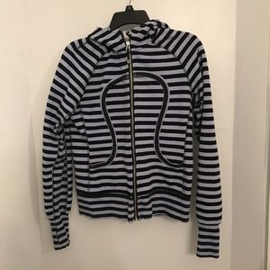 Lululemon Scuba Hoodie purple black stripes